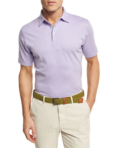Peter Millar The Perfect Piqué Polo Shirt In Purple