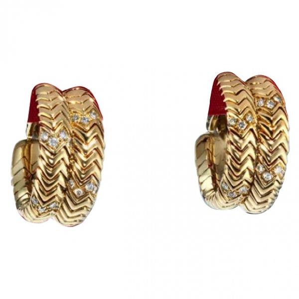 Bulgari Tubogas Gold Yellow Gold Earrings