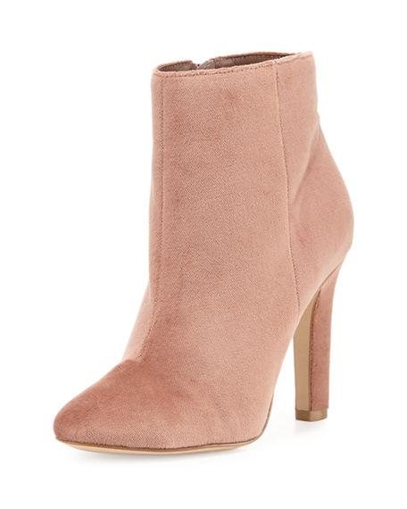 Joie Hachiro Velvet Ankle Boot In Pink