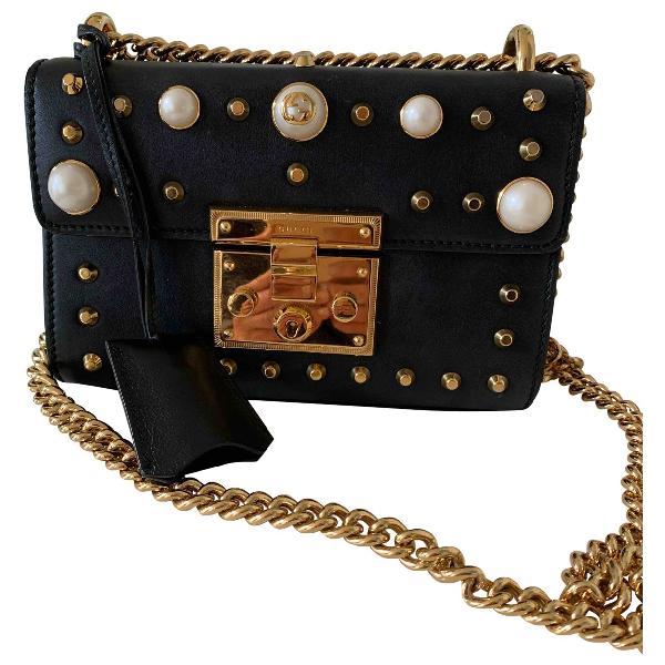 Gucci Padlock Black Leather Handbag