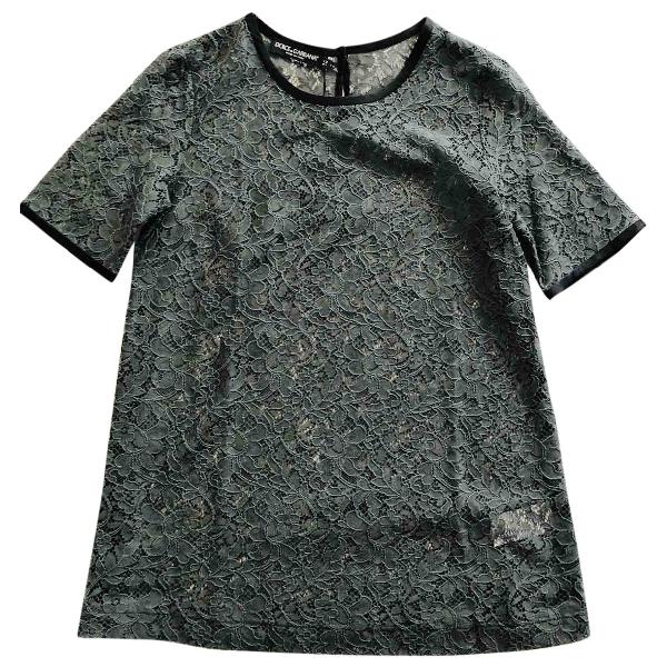 Dolce & Gabbana Grey Lace  Top
