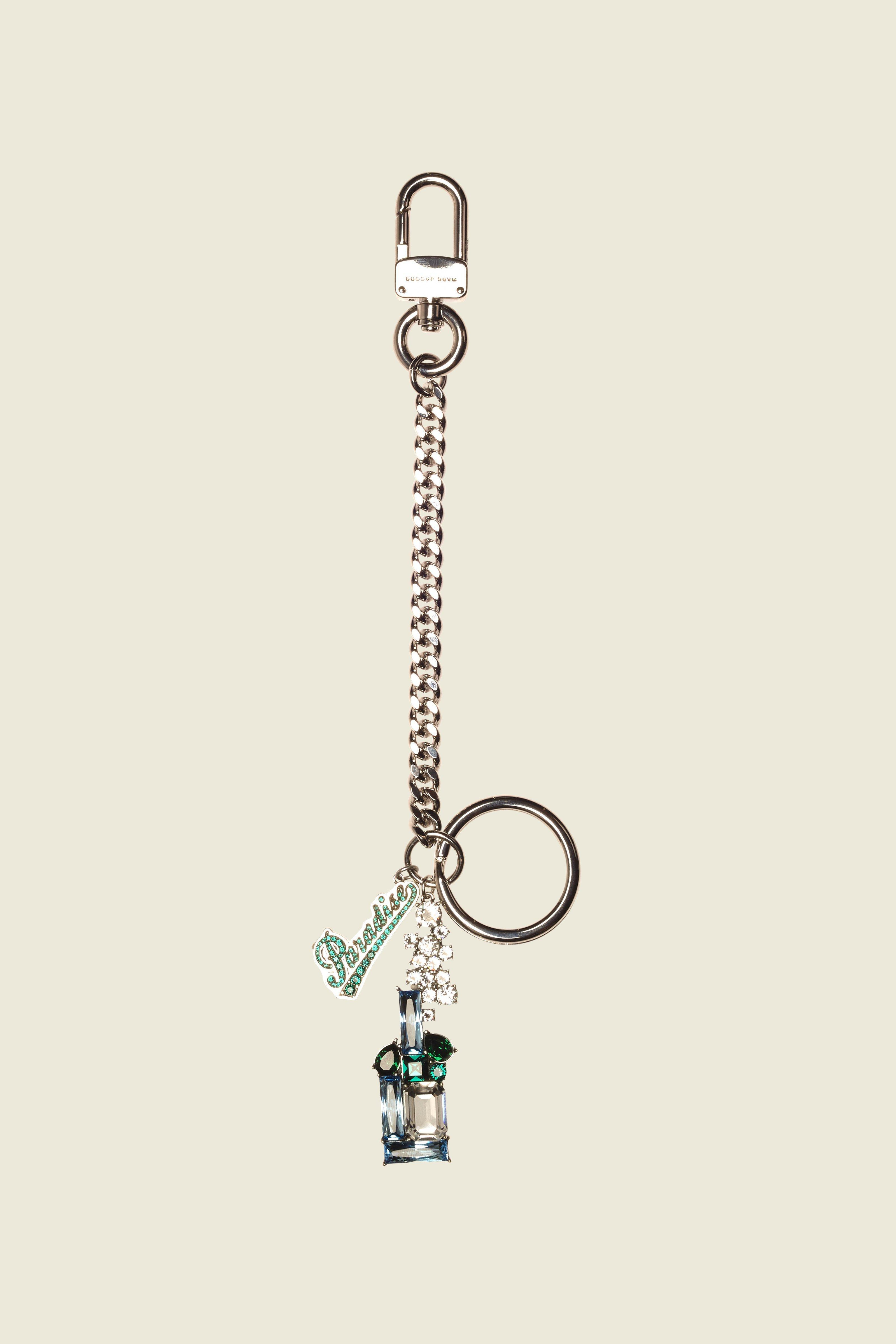 Marc Jacobs Paradise Bag Charm In Silver