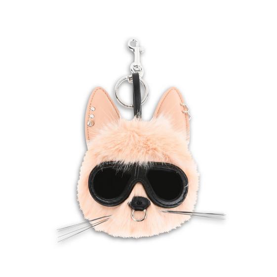Stella Mccartney Fur Free Fur Pink Rabbit Keychain