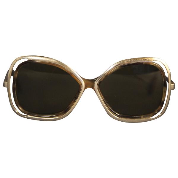Silhouette Brown Metal Sunglasses