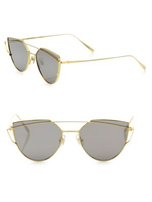 c282e6e375b1 Gentle Monster Love Punch Aviator-Style Gold-Tone Sunglasses In Na ...