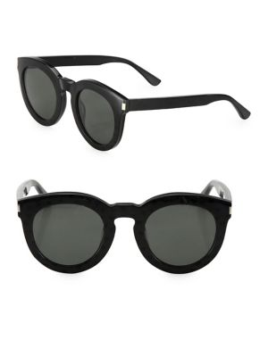 Saint Laurent Surf 47mm Round Sunglasses In Na