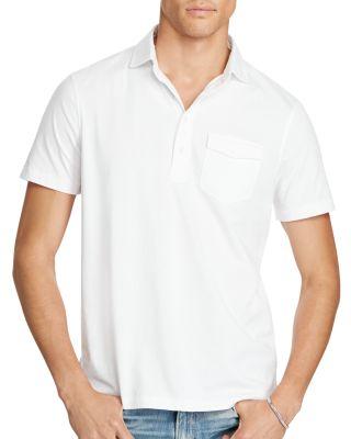 Polo Ralph Lauren Hampton Cotton Lisle Regular Fit Polo Shirt In White