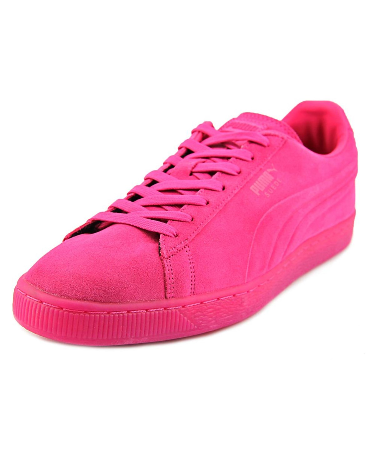 Puma Suede Iced Men  Round Toe Suede Pink Sneakers