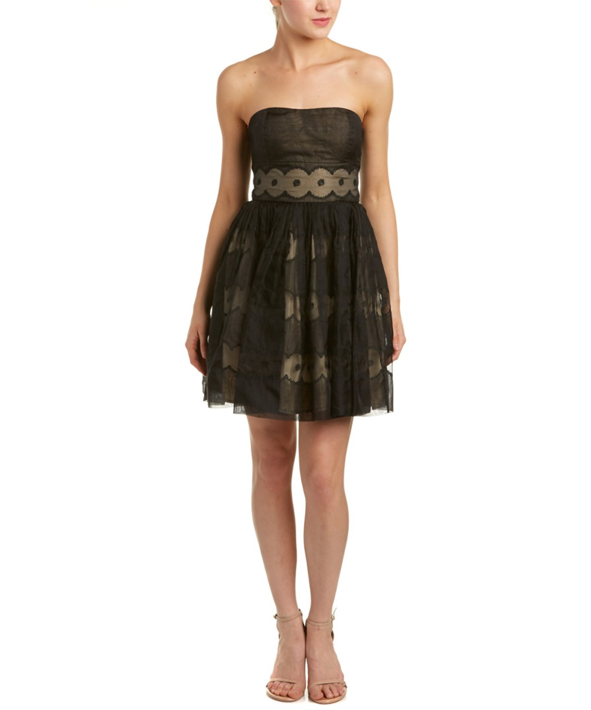 Red Valentino Silk A-line Dress In Black