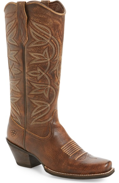 Ariat Sheridan Western Boot In Vintage Bomber Leather