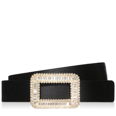 Roger Vivier Mini Pilgrim Belt In Silk