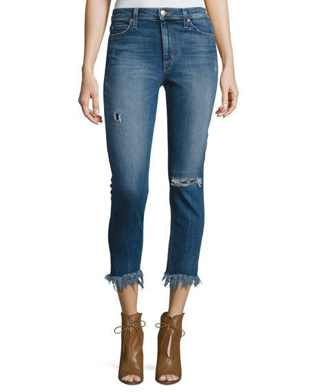 Joe's Jeans The Charlie High-rise Cropped Skinny Jeans, Neelam In Indigo