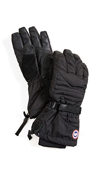 Canada Goose 'arctic' Waterproof Down Gloves In Black