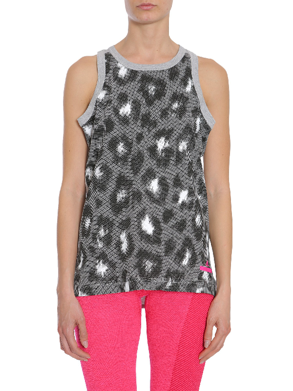 Adidas By Stella Mccartney Essentials Logo Tank Top In Grey