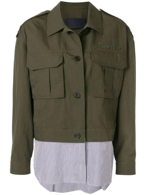 Juun.j Shirt Cargo Jacket In H Khaki