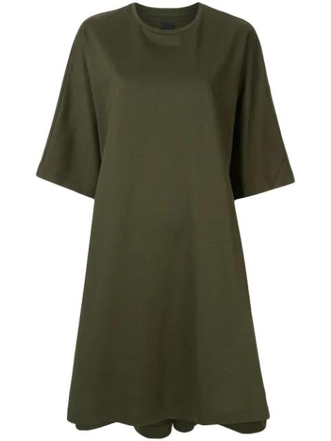 Juun.j 'synthesize' T-shirtkleid In Green