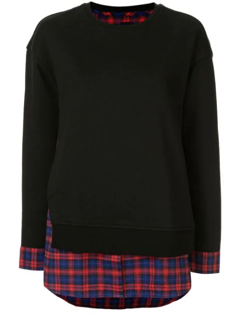 Juun.j Pullover Im Layering-look In Black