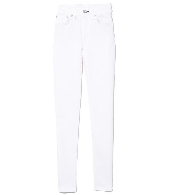 Rag & Bone Nina High Rise Ankle Skinny Jean In White In 100 White