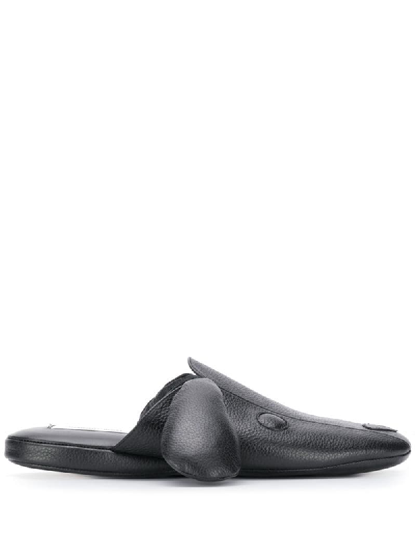 Thom Browne Goat Skin Lining Hector Slipper In 001 Black