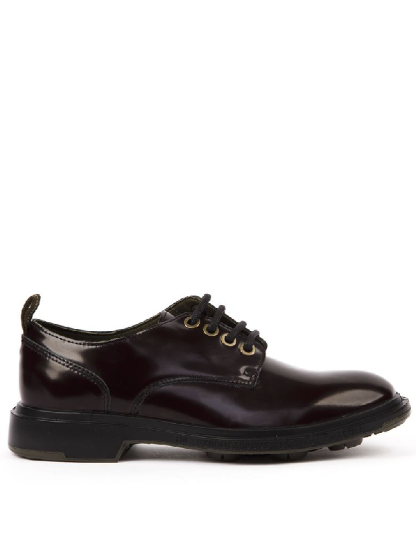Pezzol 1951 Brushed Leather Derby Shoes In Aubergine