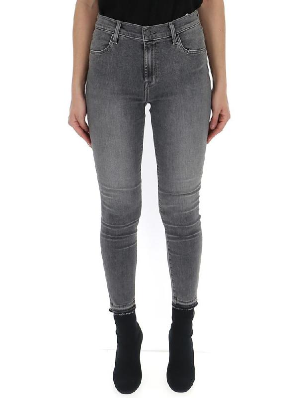J Brand Alana Cropped Skinny Jeans In Grey