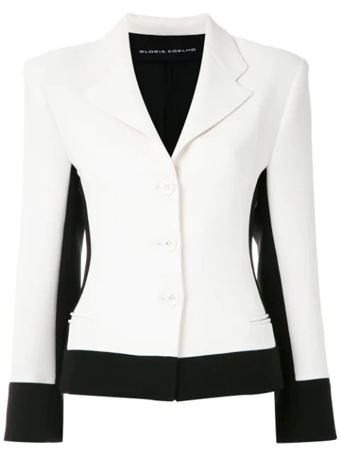 Gloria Coelho Schmaler Blazer In Multicolour