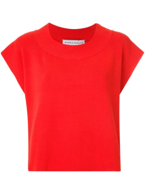 Gloria Coelho Knit Blouse In Red