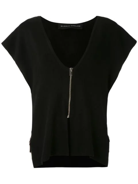 Gloria Coelho Knit Vest In Black
