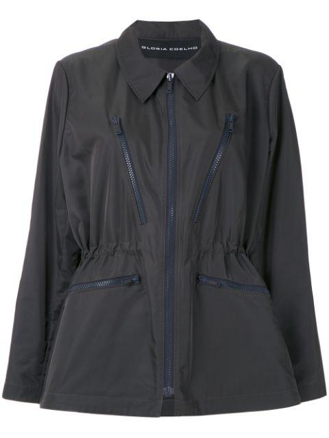 Gloria Coelho Classic Collar Jacket In Grey
