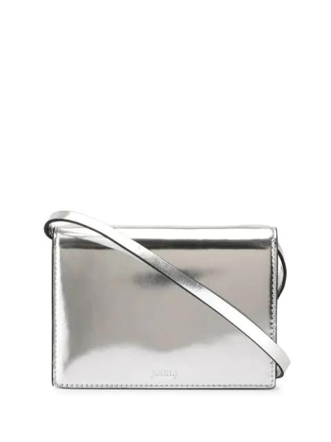 Juun.j Mini Crossbody Bag In Silver