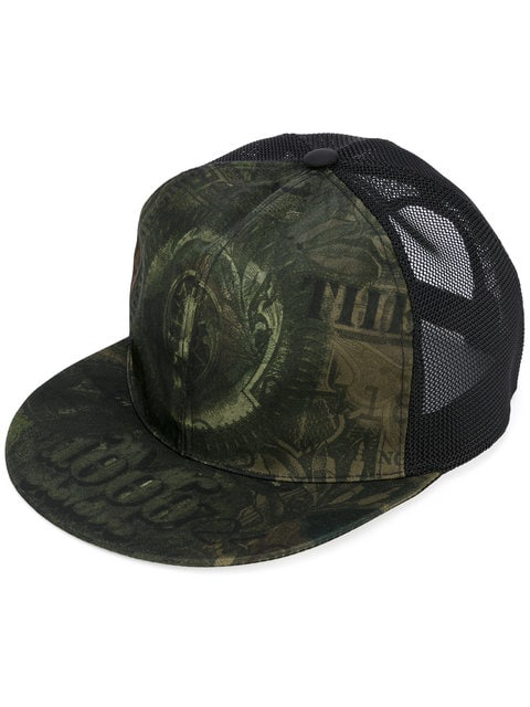 Givenchy Dollar-print Flat-billed Hat, Olive In 960