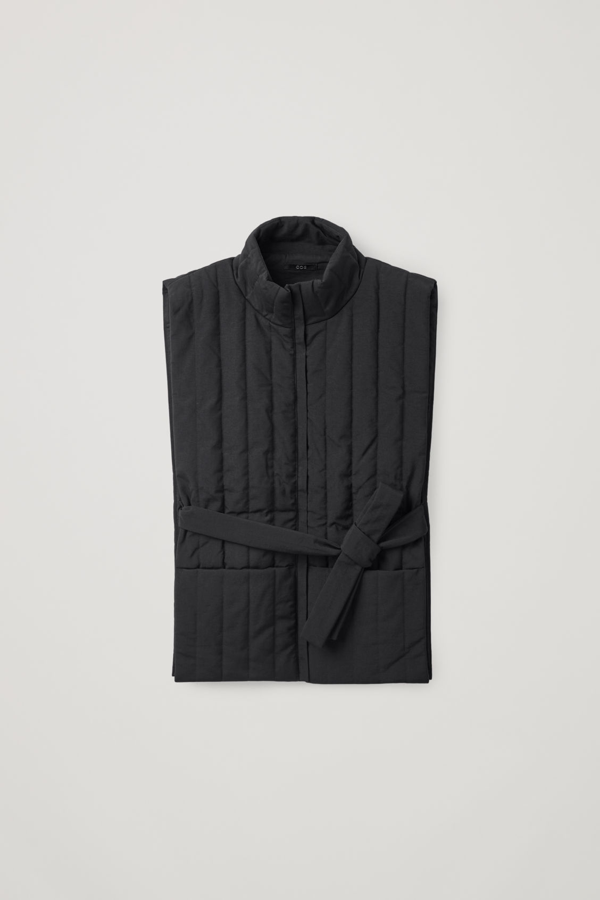 Cos Zip-up Puffer Vest In Black