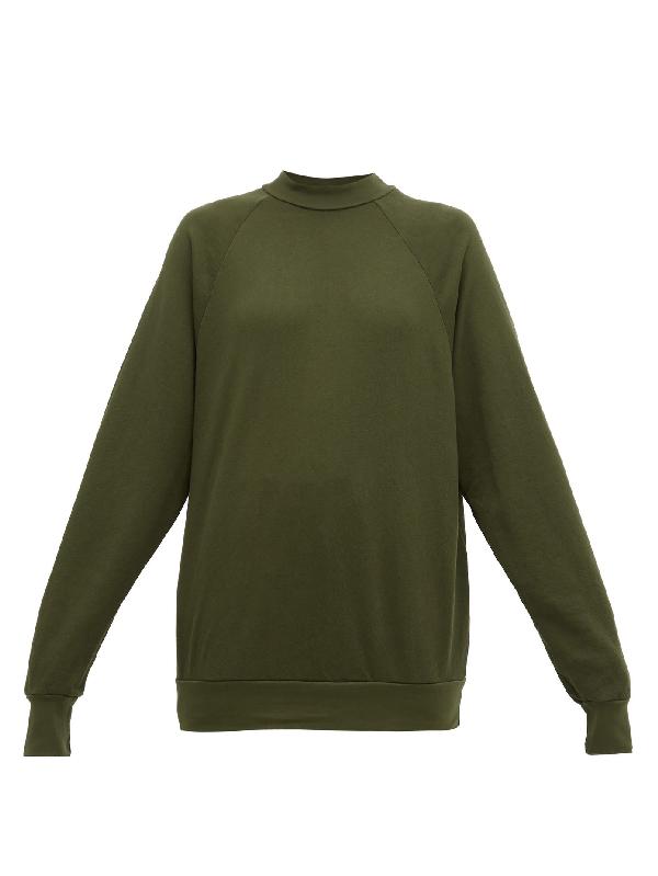 Les Tien High-neck Cotton-jersey Sweatshirt In Khaki
