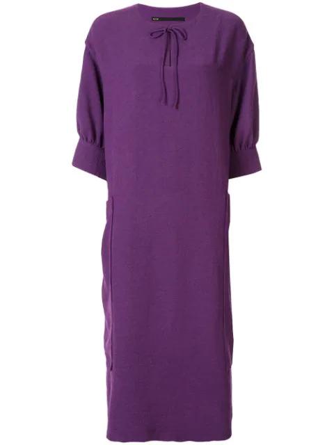 Muller Of Yoshiokubo Loose Fit Smock Dress In Purple
