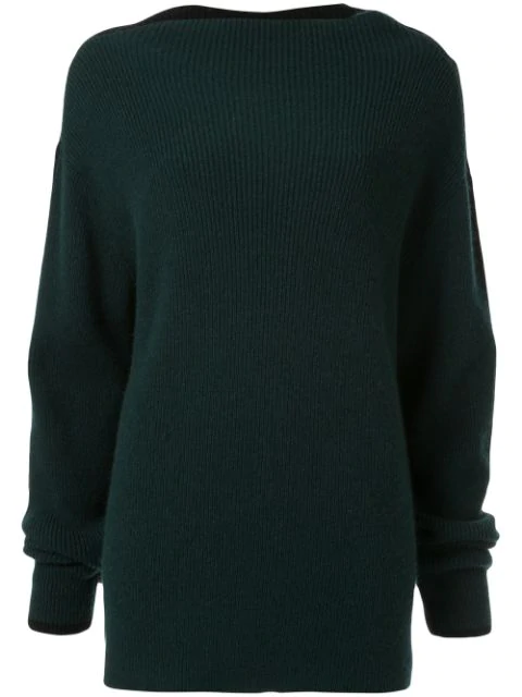 Muller Of Yoshiokubo Square Neck Sweater In Green