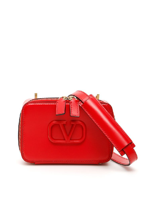 Valentino Garavani Vsling Camera Bag In Rouge Pur