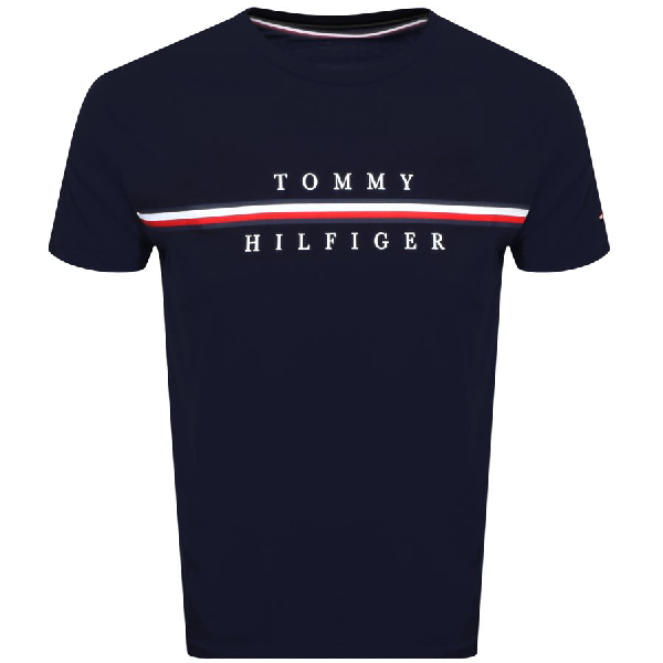 Tommy Hilfiger Logo T Shirt Navy