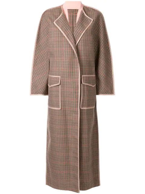 Bouguessa Checked Cape Coat In Pink