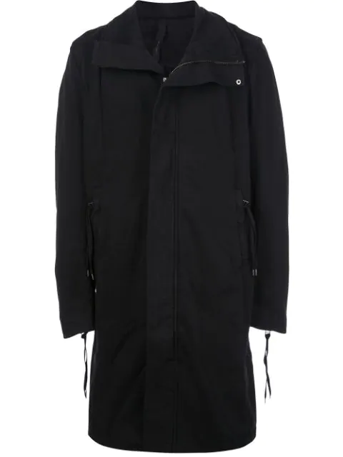 Army Of Me Oversized Long Coat In Black
