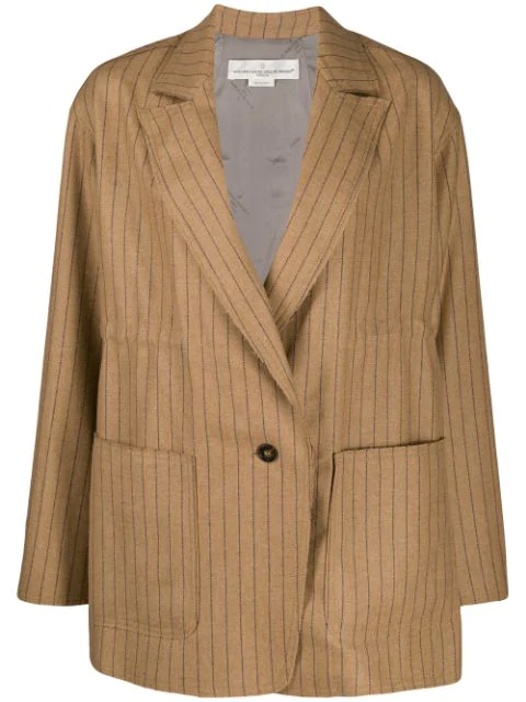 Golden Goose Matsu Pinstripes Oversized Blazer In Neutrals