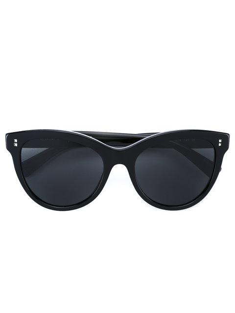 4c23f5253ba89 Valentino Rockstud Rivet Monochromatic Cat-Eye Sunglasses In Black ...