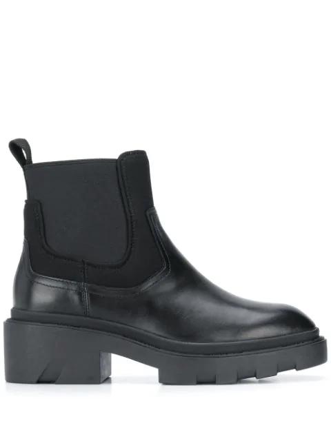 Ash Women's Metro Block-heel Platform Chelsea Boots In 01 Blk