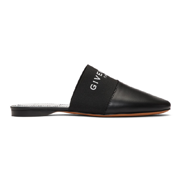 Givenchy Slip On Shoes Paris Nappa Leather Logo Black In 001 Black