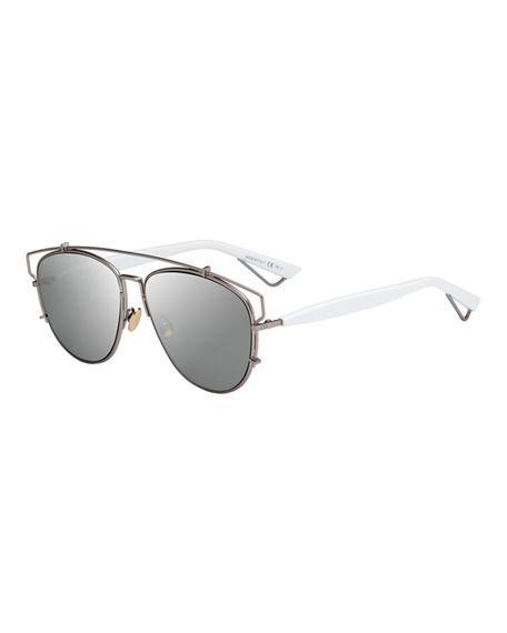 81cbdcd09ce3 Dior Technologic 57Mm Brow Bar Sunglasses - Dark Ruthenium  Pink In Black