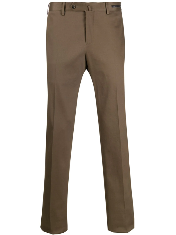 Pt01 Tailored Trousers In Brown