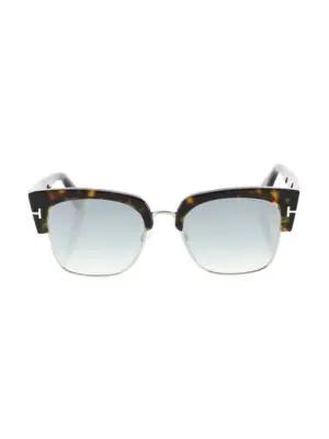 f5e537c706 Tom Ford Dakota Semi-Rimless Cat-Eye Flash Sunglasses