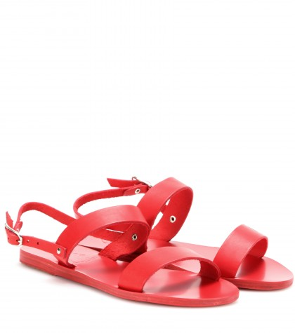 Ancient Greek Sandals Clio Leather Sandals In All Red