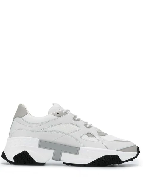 Tod's Men's Shoes Leather Trainers Sneakers In White