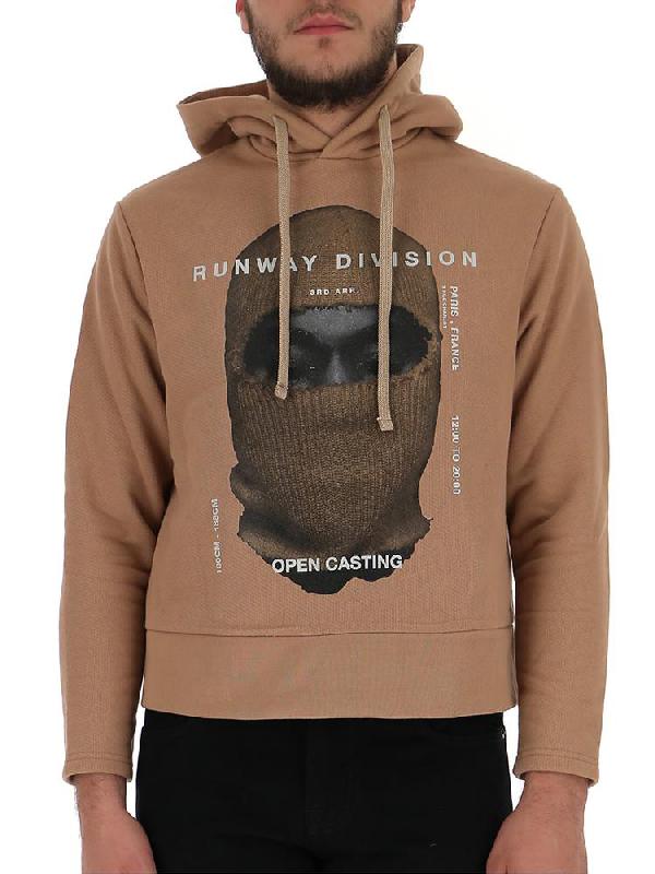 Ih Nom Uh Nit Graphic Printed Hoodie In Camel
