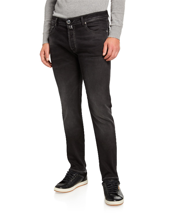 Jacob Cohen Men's Limited Edition Dark Stretch-denim Jeans In Gray